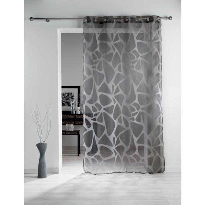 voilage de couleur gris. Black Bedroom Furniture Sets. Home Design Ideas