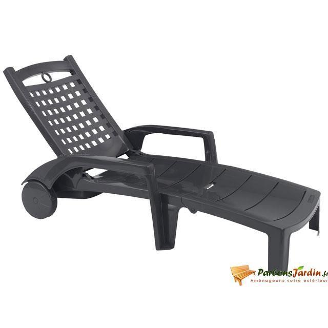 bain de soleil en r sine bora 2 anthracite achat vente chaise longue transat bain de. Black Bedroom Furniture Sets. Home Design Ideas