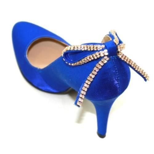 escarpins ferm s en lam bleu r bleu bleu achat vente escarpin cdiscount. Black Bedroom Furniture Sets. Home Design Ideas