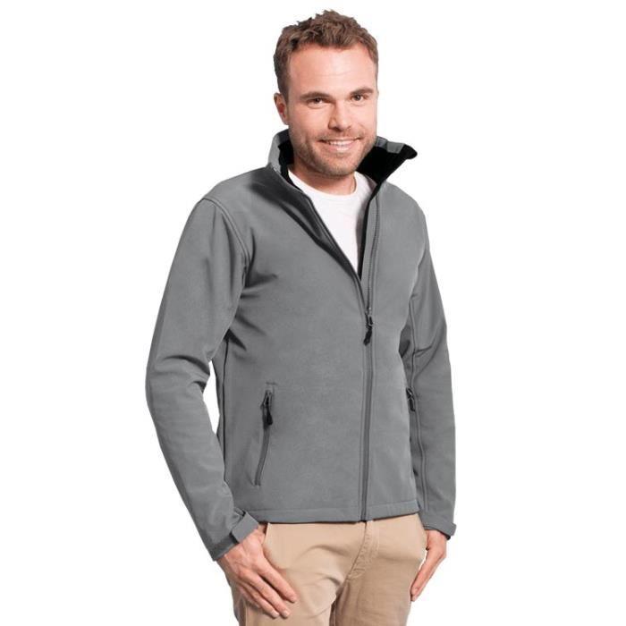 veste softshell homme c gris acier gris acier achat vente veste cdiscount. Black Bedroom Furniture Sets. Home Design Ideas