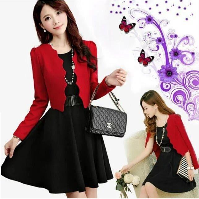 nouveau mode travail bureau robe femme ceinture d sign manche longue automne hiver robe court. Black Bedroom Furniture Sets. Home Design Ideas