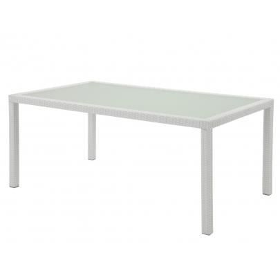 Table manger d 39 ext rieur alanda r sine tress e achat - Table exterieur resine ...