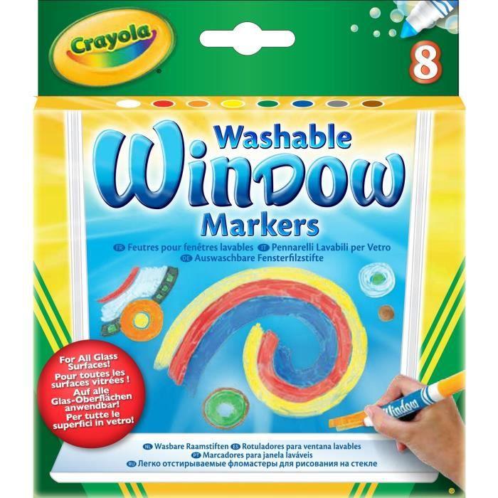 Crayola 8 feutres pour fen tre achat vente feutres for Mondial fenetre avis