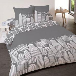 housse de couette moderne achat vente housse de couette moderne pas cher cdiscount. Black Bedroom Furniture Sets. Home Design Ideas