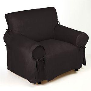 housse de fauteuil noir achat vente pas cher cdiscount. Black Bedroom Furniture Sets. Home Design Ideas