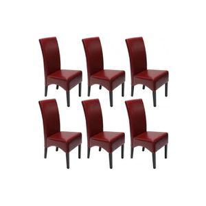 chaises rouge achat vente chaises rouge pas cher cdiscount. Black Bedroom Furniture Sets. Home Design Ideas