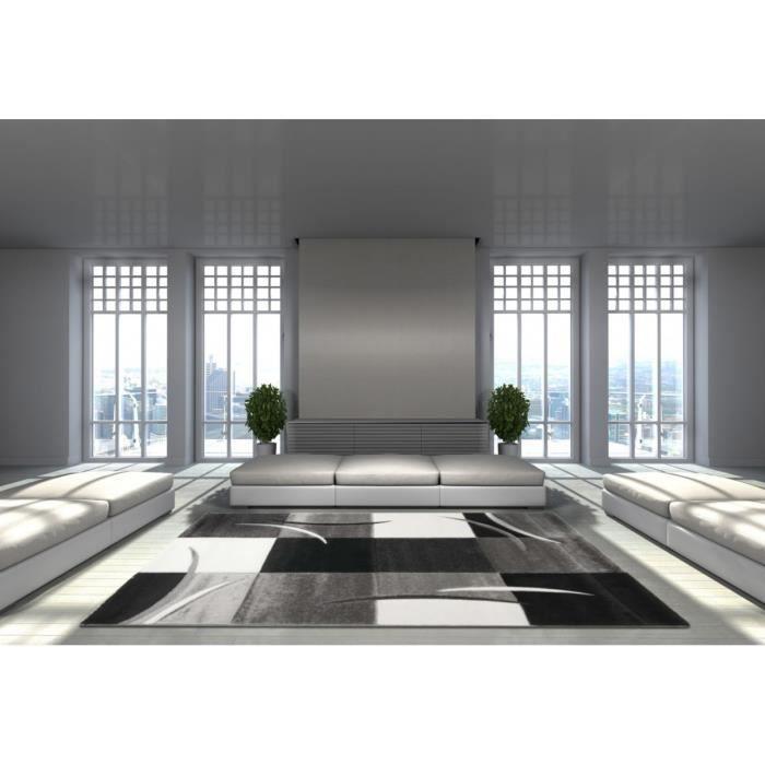 allotapis tapis d 39 int rieur pour salon gris california 160x230cm gris achat vente. Black Bedroom Furniture Sets. Home Design Ideas
