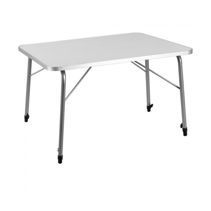 superbe table de cing pliante 224 hauteur r 233 glable en aluminium neuf prix pas cher cdiscount