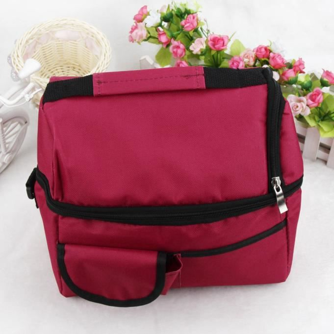 1pc insulated picnic cooler sac lunch tanche paule thermique bo te de rangement tote rose. Black Bedroom Furniture Sets. Home Design Ideas