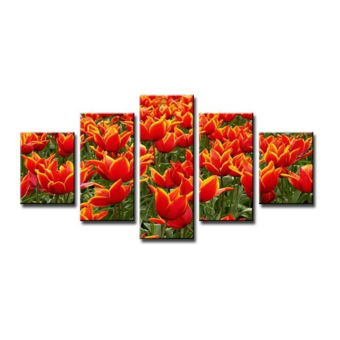 Tableau moderne imprim 160x80 cm fleurs achat vente tableau toile to - Vente tableau moderne ...