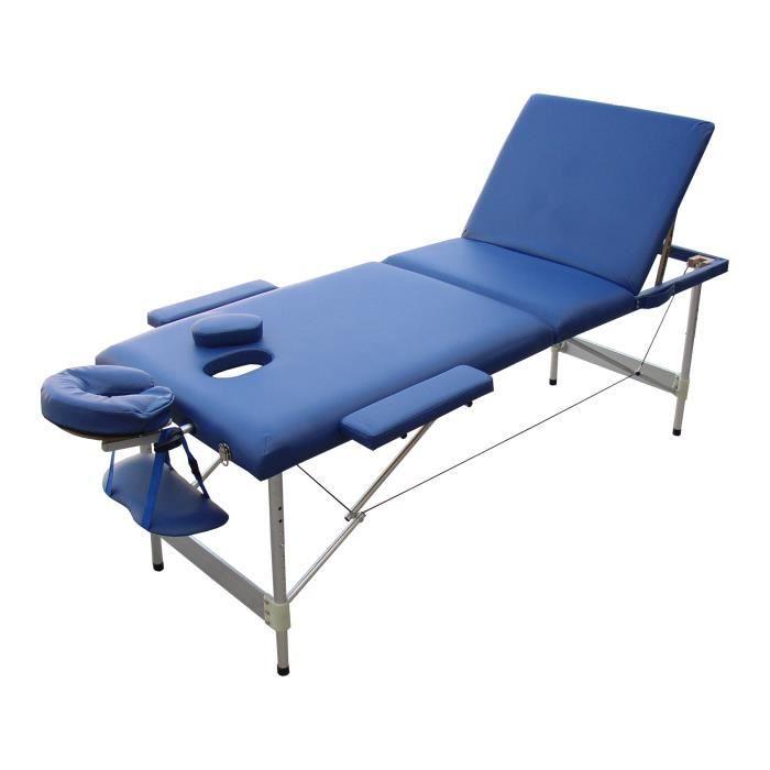w3b table de massage bleue pliante portable alu achat. Black Bedroom Furniture Sets. Home Design Ideas