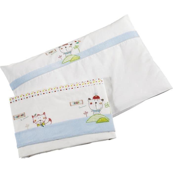 Parure de lit sauthon gaspard blanc achat vente parure de lit b b 350076 - Cdiscount parure de lit ...