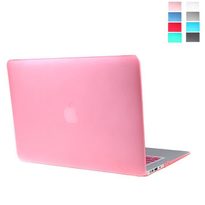 coque matte hard cover de keyboard protecteur pour macbook air 13 clear rose prix pas cher. Black Bedroom Furniture Sets. Home Design Ideas