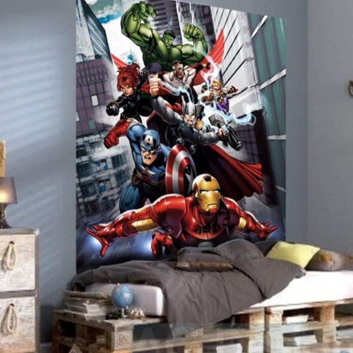 papier peint xl quipe avengers marvel achat vente. Black Bedroom Furniture Sets. Home Design Ideas