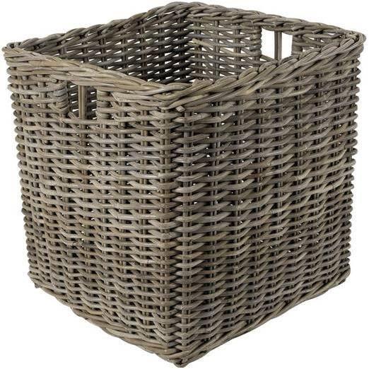 grand cache pot carr e en rotin gris achat vente jardini re pot fleur grand cache pot. Black Bedroom Furniture Sets. Home Design Ideas