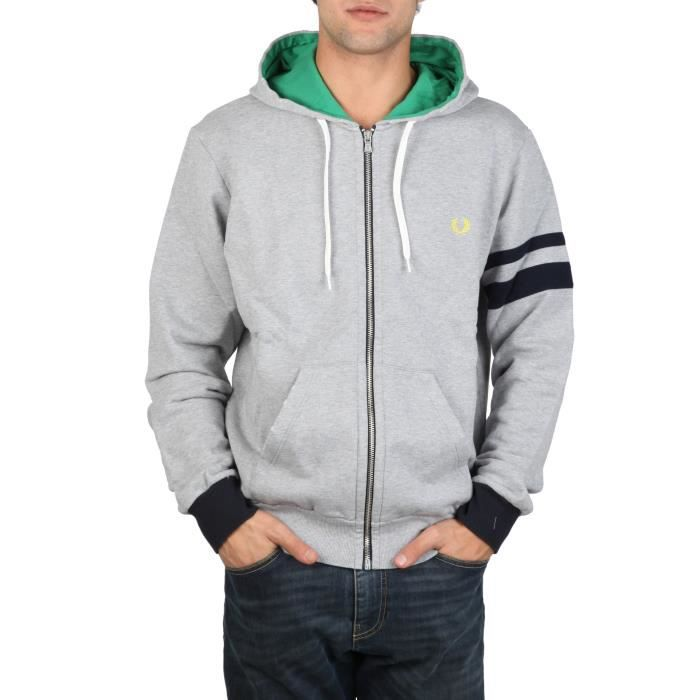 sweat shirt fred perry homme 304 gris achat vente sweatshirt sweat shirt fred perry homm. Black Bedroom Furniture Sets. Home Design Ideas