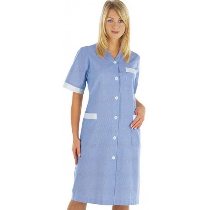 tunique blouse blouse de travail femme colore michelle ray bleu - Tunique Colore Femme