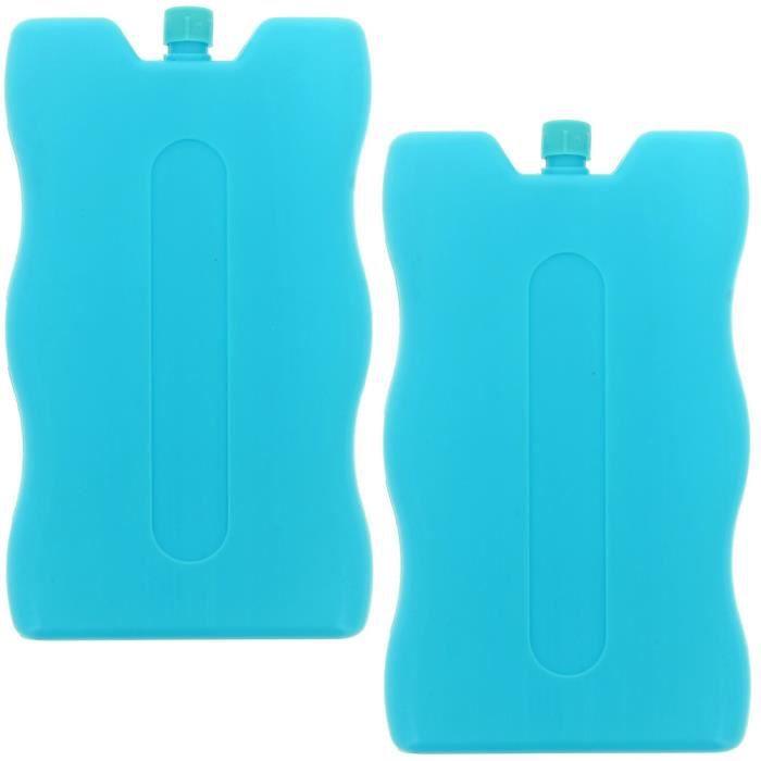 set lot 2 pains de glace blocs r frig rants cong lateur pour glaci re design vague bleu achat. Black Bedroom Furniture Sets. Home Design Ideas