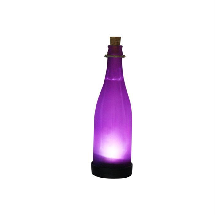 lampe solaire verre bouteille violette achat vente lampe solaire verre bouteille cdiscount. Black Bedroom Furniture Sets. Home Design Ideas
