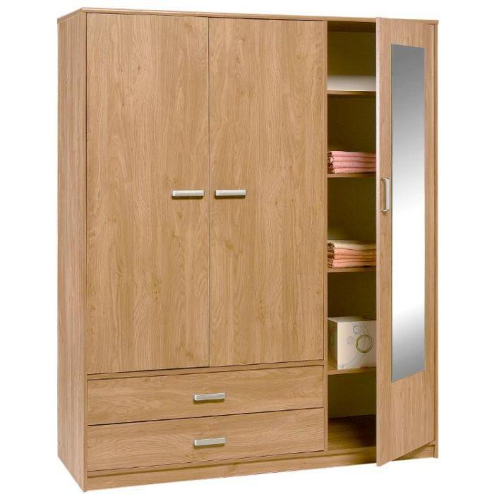 armoire 3 portes sophie achat vente armoire de chambre. Black Bedroom Furniture Sets. Home Design Ideas