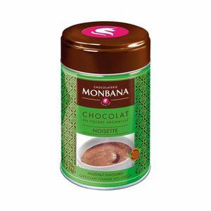 CACAO - CHOCOLAT Chocolat Monbana en poudre arôme Noisette - Boîte