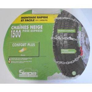 CHAINE NEIGE Paire de chaines neige pour pneu 155/80/15 - SIEPA