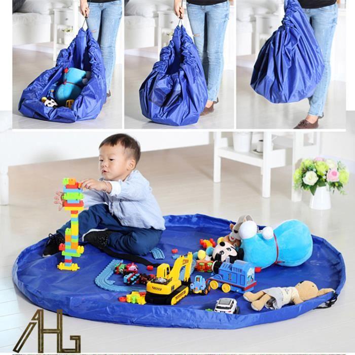 1 sac jouets pour enfants sac de rangement tapis de jeu diam tre 150cm sac de rangement tapis. Black Bedroom Furniture Sets. Home Design Ideas