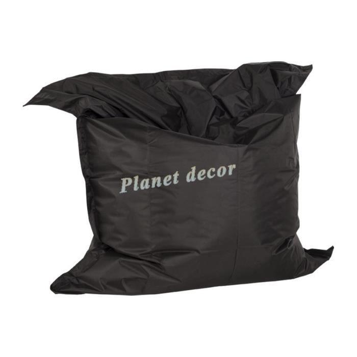 pouf g ant 39 lazy 39 noir achat vente pouf poire les soldes sur cdiscount cdiscount. Black Bedroom Furniture Sets. Home Design Ideas