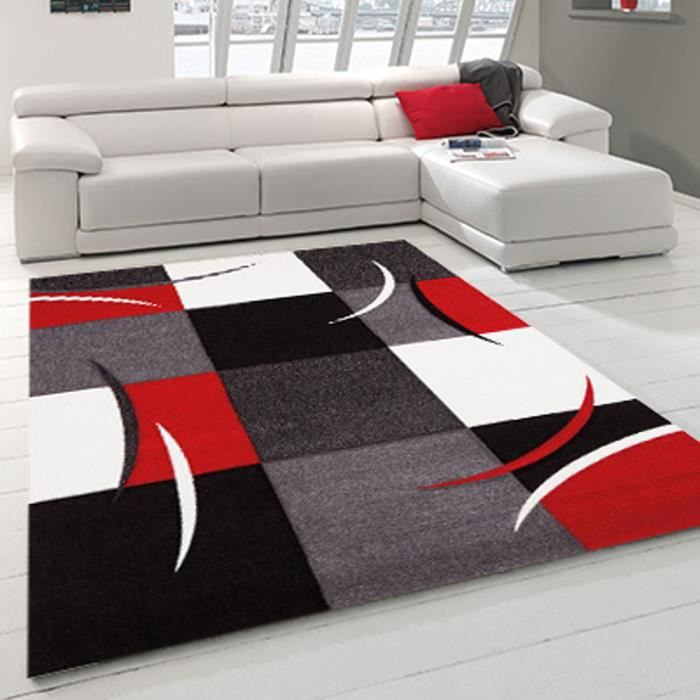 allotapis tapis d 39 int rieur pour salon rouge california 200x290cm rouge achat vente. Black Bedroom Furniture Sets. Home Design Ideas
