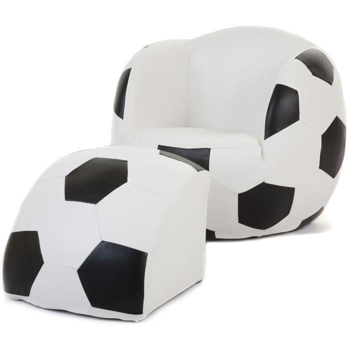 Fauteuil et pouf football pour enfant xt9 56 achat vente fauteuil canap - Pouf fauteuil enfant ...