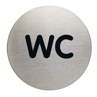 Plaque de signalisation metal wc achat vente plaque - Plaque de porte wc design ...