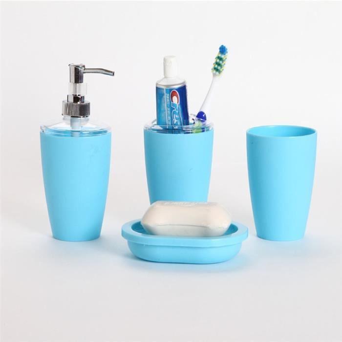 Set accessoires salle de bain bleu achat vente set accessoires salle de b - Set salle de bain pas cher ...