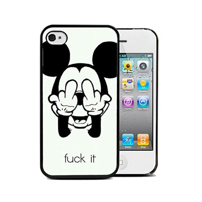 3d noir mickey style soft silicone tpu etui coque for Housse iphone 5se