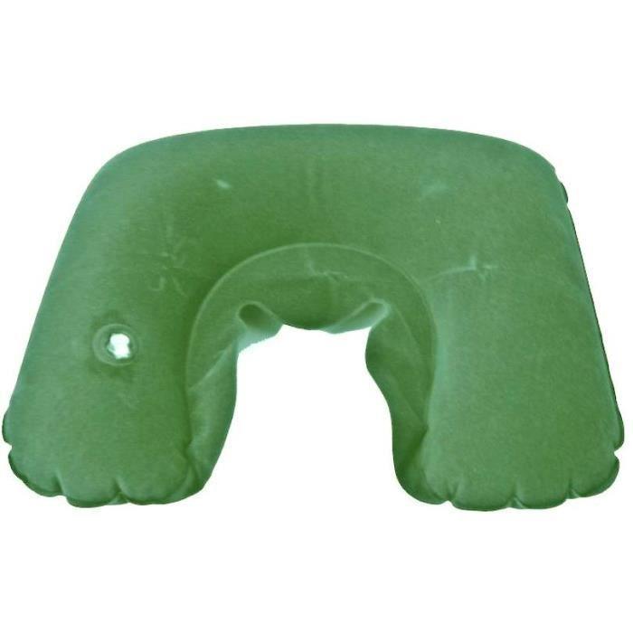 cale nuque coussin gonflable de voyage vert achat vente kit de confort voyage cale nuque. Black Bedroom Furniture Sets. Home Design Ideas