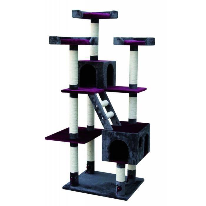 arbre chat orlando rouge anthracite. Black Bedroom Furniture Sets. Home Design Ideas