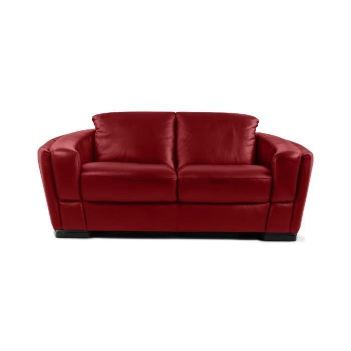 Canap 2 places en cuir rouge 2 places premia achat vente canap sofa - Canape 2 places rouge ...