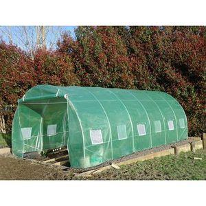 Serre tunnel de jardin premium 2 portes et tubes 32mm for Arceaux pour tunnel de jardin