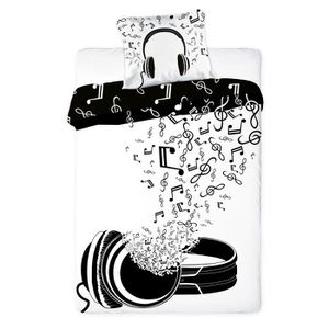 linge de lit musique achat vente linge de lit musique pas cher cdiscount. Black Bedroom Furniture Sets. Home Design Ideas