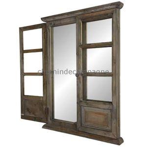 miroir avec volet achat vente miroir avec volet pas cher soldes cdiscount. Black Bedroom Furniture Sets. Home Design Ideas