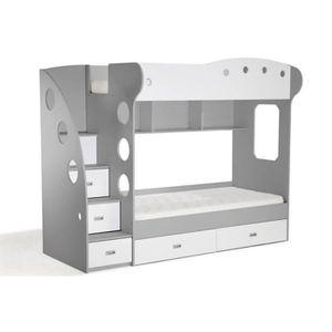 lit superpose enfant avec etagere achat vente lit superpose enfant avec etagere pas cher. Black Bedroom Furniture Sets. Home Design Ideas