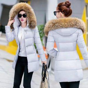 MANTEAU - CABAN Mode Désign Manteau Femme Hiver Svelte Solide C...