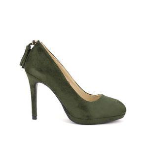 ESCARPIN escarpin, Escarpins Kaki Chaussures Femme, Cendriy