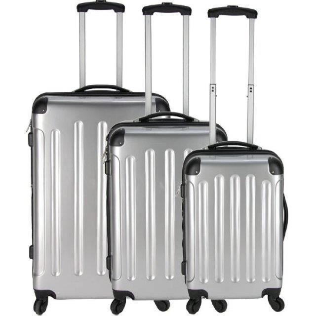 lot de 3 valises nouvelle generation gris achat vente set de valises 2009983569168 cdiscount. Black Bedroom Furniture Sets. Home Design Ideas