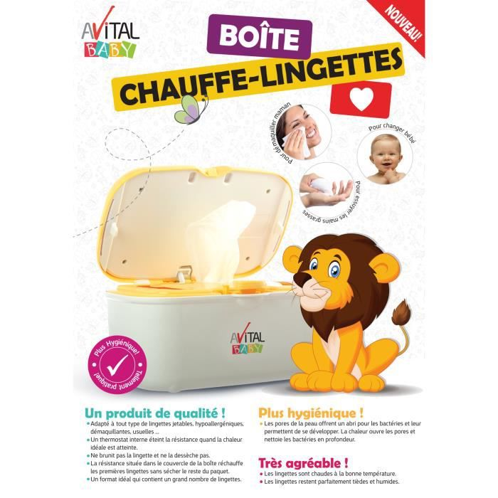 AVITAL BABY Boite Chauffe Lingettes