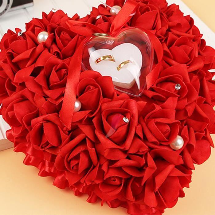 Bouquet de roses MINI COEUR ROUGE + ROSE STABILISEE ROUGE