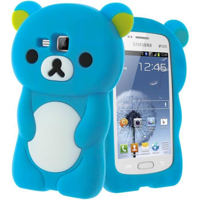 Coque ours bleu samsung galaxy trend s duos achat coque bumper pas cher avis et meilleur - Samsung trend lite pas cher ...