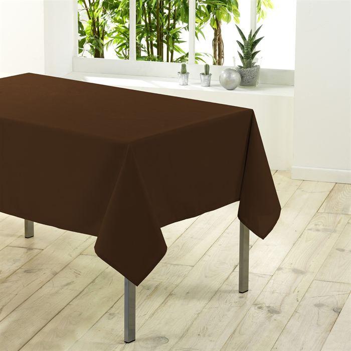 nappe rectangulaire 250 cm essentiel chocolat achat vente nappe de table cdiscount. Black Bedroom Furniture Sets. Home Design Ideas