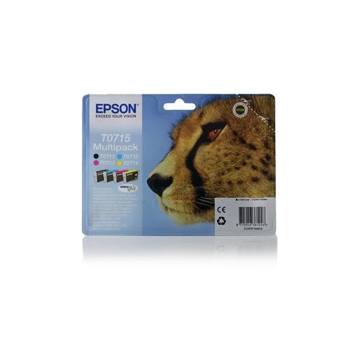 epson stylus sx 205 original epson c13t07154010 t0715 pack promo bk c m y prix pas. Black Bedroom Furniture Sets. Home Design Ideas