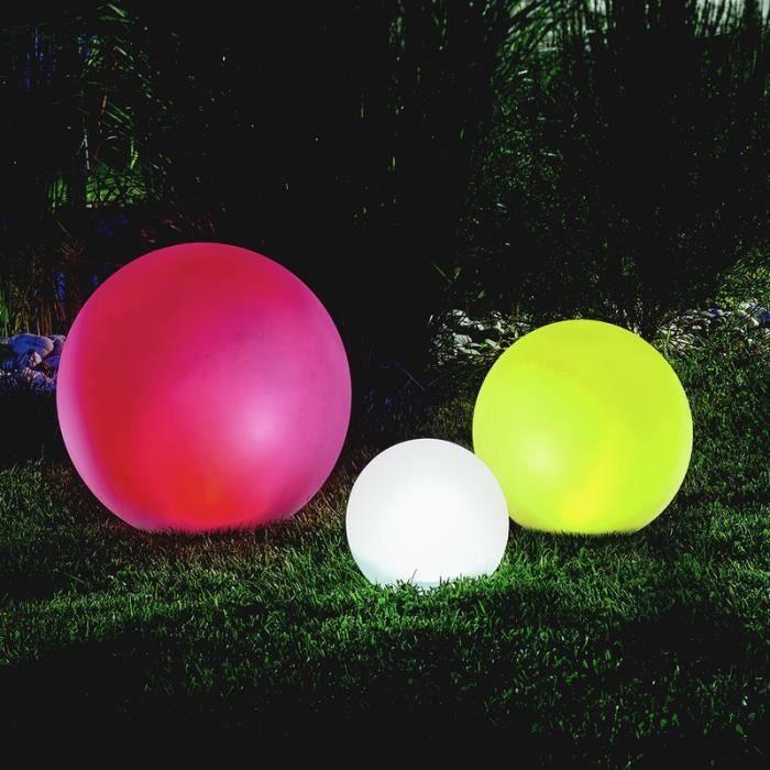 lot de 3 x boule solaire multicolore 20 30 40 cm achat. Black Bedroom Furniture Sets. Home Design Ideas