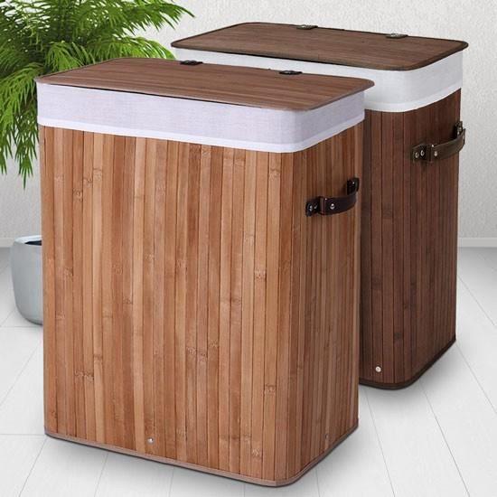 corbeille linge bwsk01 e70 en bambou nature achat. Black Bedroom Furniture Sets. Home Design Ideas
